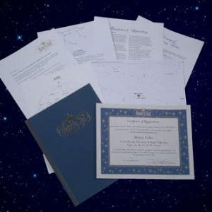 Image of Custom Memorial Star-Naming Package
