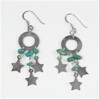 Turquoise Star Dangle Earrings